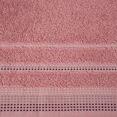 Ręcznik z bawełny z ozdobnym stebnowaniem 70x140cm - 70 X 140 cm - pudrowy 7