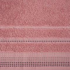 Ręcznik z bawełny z ozdobnym stebnowaniem 70x140cm - 70 X 140 cm - pudrowy 4