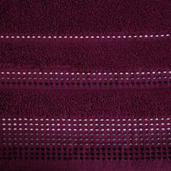 Ręcznik z bawełny z ozdobnym stebnowaniem 70x140cm - 70 X 140 cm - fioletowy 8