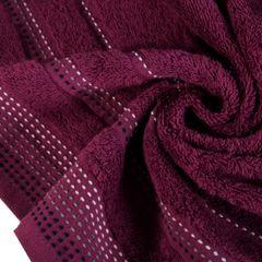 Ręcznik z bawełny z ozdobnym stebnowaniem 70x140cm - 70 X 140 cm - fioletowy 9