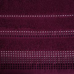 Ręcznik z bawełny z ozdobnym stebnowaniem 70x140cm - 70 X 140 cm - fioletowy 4