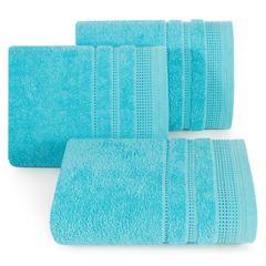 Ręcznik z bawełny z ozdobnym stebnowaniem 30x50cm - 30 X 50 cm - niebieski 1