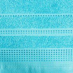 Ręcznik z bawełny z ozdobnym stebnowaniem 30x50cm - 30 X 50 cm - niebieski 8
