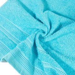 Ręcznik z bawełny z ozdobnym stebnowaniem 30x50cm - 30 X 50 cm - niebieski 9