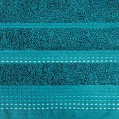 Ręcznik z bawełny z ozdobnym stebnowaniem 30x50cm - 30 X 50 cm - turkusowy 7
