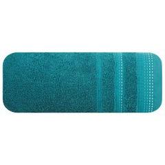 Ręcznik z bawełny z ozdobnym stebnowaniem 50x90cm - 50 X 90 cm - turkusowy 2