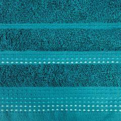 Ręcznik z bawełny z ozdobnym stebnowaniem 50x90cm - 50 X 90 cm - turkusowy 4