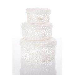 Koszyczek koronkowy 12 x 8 cm 100% bawełna - ∅ 12 X 8 cm - biały 4