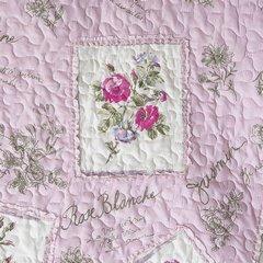 Narzuta patchwork kwiaty 220 x 240 cm - 220 X 240 cm - różowy 4