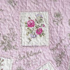 Narzuta patchwork kwiaty 220 x 240 cm - 220 X 240 cm - różowy 3