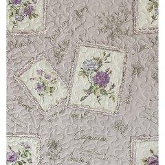 Narzuta patchwork kwiaty 220 x 240 cm - 220 X 240 cm - fioletowy 4
