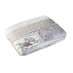 Narzuta patchwork kwiaty 220 x 240 cm - 220 X 240 cm - fioletowy 2