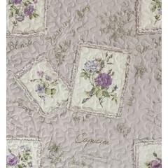 Narzuta patchwork kwiaty 220 x 240 cm - 220 X 240 cm - fioletowy 3