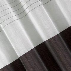 Zasłona biała z ciemnym pasem przelotki 140x250cm - 140x250 - biały 1