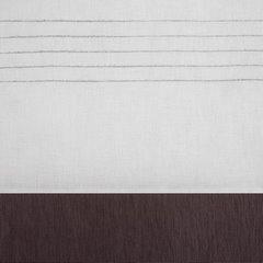 Zasłona biała z ciemnym pasem przelotki 140x250cm - 140x250 - biały 2