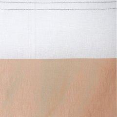 Zasłona biała z beżówym pasem przelotki 140x250cm - 140 X 250 cm - biały/beżowy 2