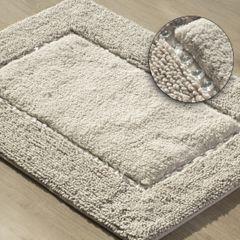 Miękki dywanik łazienkowy z kryształami beżowy 60x90 cm - 60 X 90 cm - Beżowy 1