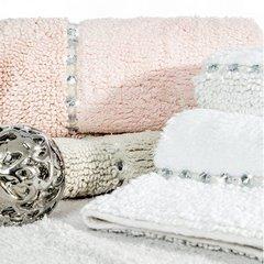 Miękki dywanik łazienkowy z kryształami beżowy 60x90 cm - 60 X 90 cm - Beżowy 8