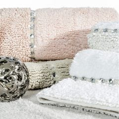 Miękki dywanik łazienkowy z kryształami beżowy 60x90 cm - 60 X 90 cm - Beżowy 4
