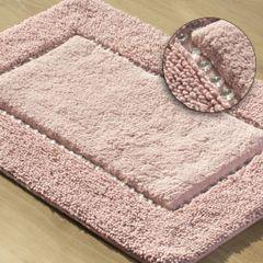 Miękki dywanik łazienkowy z kryształami różowy 75x150cm - 75 X 150 cm - różowy 1