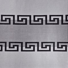 Szara zasłona w grecką falę na taśmie tunel 140x250 cm - 140 X 250 cm - stalowy 4