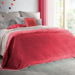 Narzuta dwustronna czerwony kawa 220x240cm - 220x240 - czerwony 4