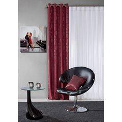 Bordowe zasłony do salony bardzo eleganckie przelotki - 140 X 250 cm - bordowy 2