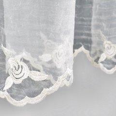 Firana haftowana kremowa taśma 350x150cm - 350 x 150 cm - kremowy 3