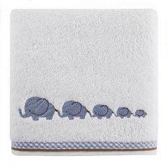 Dziecięcy ręcznik kąpielowy słoniki niebieski 50x90 cm - 50 X 90 cm - biały 3