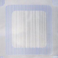 Biała zasłona na taśmie w kwadraty tunel 140x250 cm - 140 X 250 cm - kremowy/fioletowy 4
