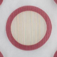 Designerska zasłona w koła na taśmie tunel 140x250 cm bordowa - 140 X 250 cm - kremowy/beżowy/bordowy 3