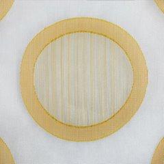 Designerska zasłona w koła na taśmie tunel 140x250 cm pomarańczowa - 140 X 250 cm - pomarańczowy 4