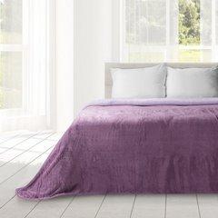Miękki i puszysty koc dwustronny fioletowo-liliowy 170x210cm - 170 X 210 cm - lila/fiolet 1