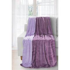 Miękki i puszysty koc dwustronny fioletowo-liliowy 170x210cm - 170 X 210 cm - lila/fiolet 2