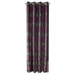Oryginalne zasłony z aplikacją fioletowe na przelotkach 140x250 cm - 140 X 250 cm - fioletowy 5