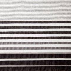 Zasłona z atłasowymi pasami biały+czarny przelotki 140x250cm - 140x250 - biały 3