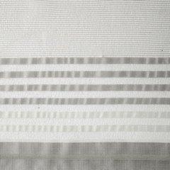 Zasłona z atłasowymi pasami biały+srebrny przelotki 140x250cm - 140 X 250 cm - biały/stalowy 4