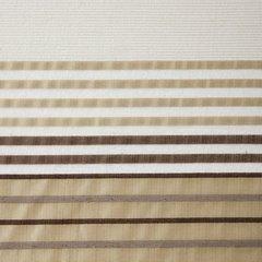Zasłona z atłasowymi pasami biały+beżowy przelotki 140x250cm - 140x250 - beżowy 3