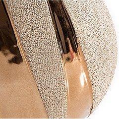Wazon dekoracyjny ceramiczy złoty 48 cm  - 24X11X48 - złoty 6