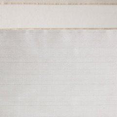 Zasłona poziome atłasowe pasy+organza biały+kremowy przelotki 140x250cm - 140 X 250 cm - kremowy 4