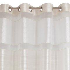 Zasłona poziome atłasowe pasy+organza biały+kremowy przelotki 140x250cm - 140 X 250 cm - kremowy 6