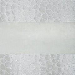 Zasłona w poziome pasy w cętki atłas+organza 140x250cm - 140 X 250 cm - kremowy 4
