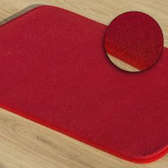 Dywanik gładki łazienkowy czerwony 60x90cm - 60 X 90 cm - czerwony 1