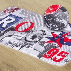 Dywanik z nowczesnymn wzorem nadruk rock 60x90cm - 60 X 90 cm - mix kolorów 1