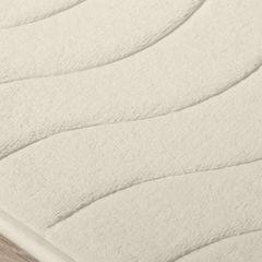 Dywanik łazienkowy wzór z falą kremowy 50x70cm - 50 X 70 cm - kremowy 3