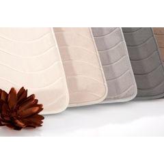 Dywanik łazienkowy wzór z falą kremowy 50x70cm - 50 X 70 cm - kremowy 5