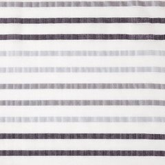 Zasłona gotowa poziome pasy na białym tle 140x250 cm przelotki - 140 X 250 cm - biały 4