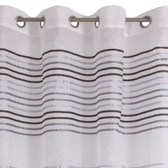 Zasłona gotowa poziome pasy na białym tle 140x250 cm przelotki - 140 X 250 cm - biały 6