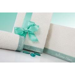 Ręcznik z haftem italissima home kremowy+brązowy 70x140cm - 70 X 140 cm - kremowy 2