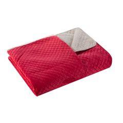 Narzuta dwustronna czerwony beż 230 x 260 cm - 230 X 260 cm - czerwony/jasnobrązowy 3